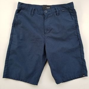 HURLEY Men's Chino Shorts sz 30 Blue Casual Surf